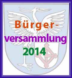 Bürgerversammlung 2014