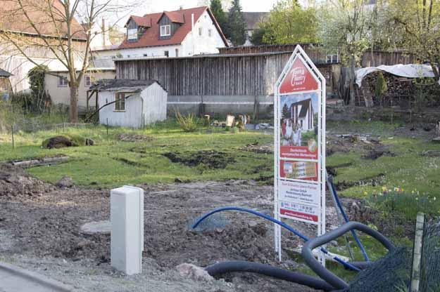 Neue Baustelle an den Spiegelwiesen