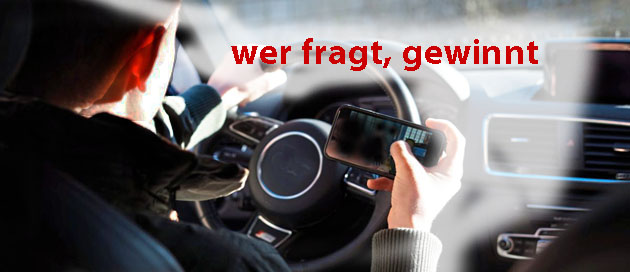 Autofahrer sucht Adresse