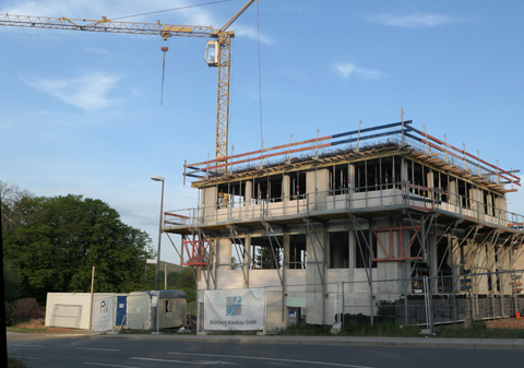 Ärztehaus in Heinersreuth wächst in die Höhe