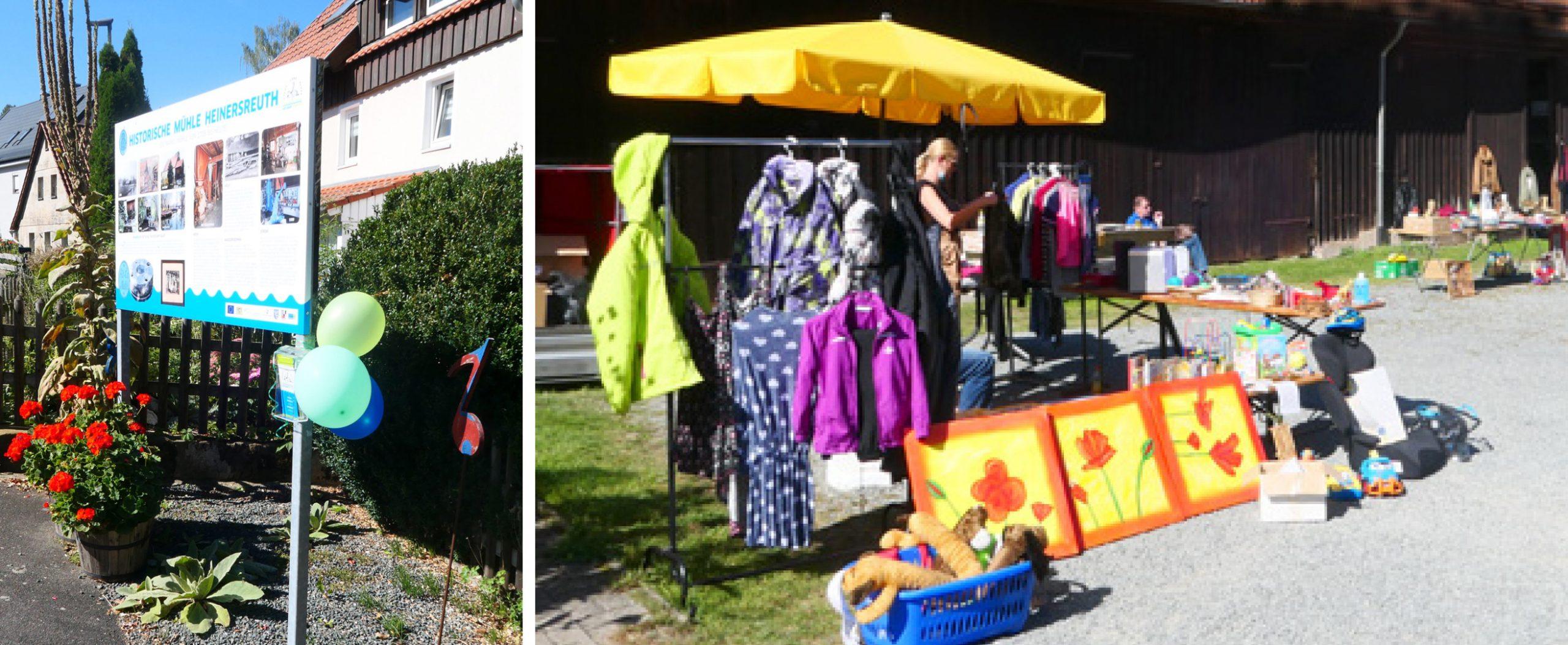Erster Garagenflohmarkt in Heinsreuth