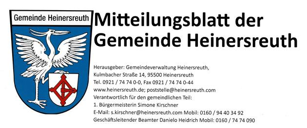 Werbeanzeigen im Mitteilungsblatt Gemeinde Heinersreuth