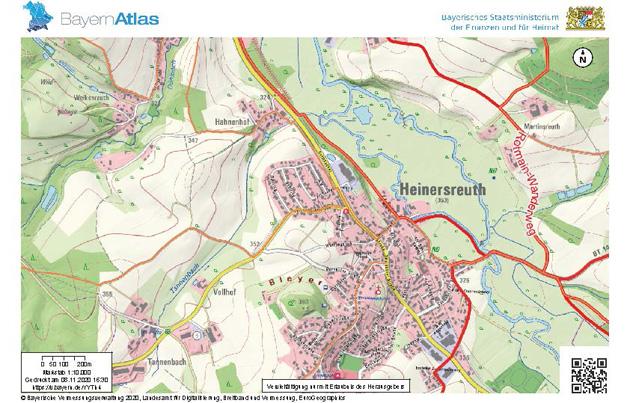 Heinersreuth im Bayernatlas