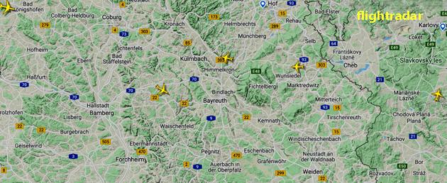 Flugzeuge über Heinersreuth