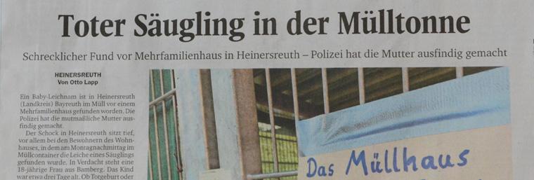 Heinersreuth in den Mühlen der Sensationspresse