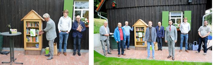 Grüne Heinersreuth weihten Bücherschrank in Altenplos ein